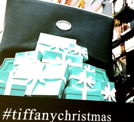 Tiffany Carriage in London Holding Presents