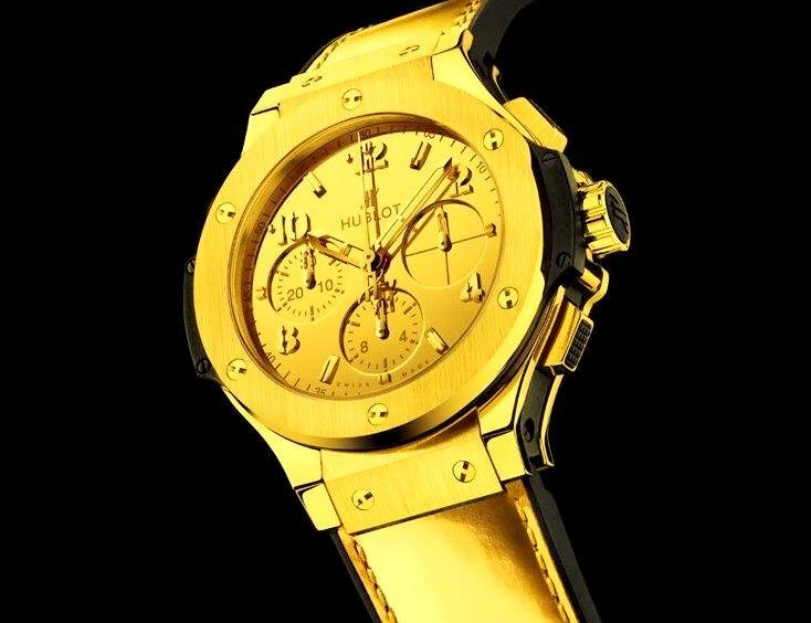 Gold Hublot Watch