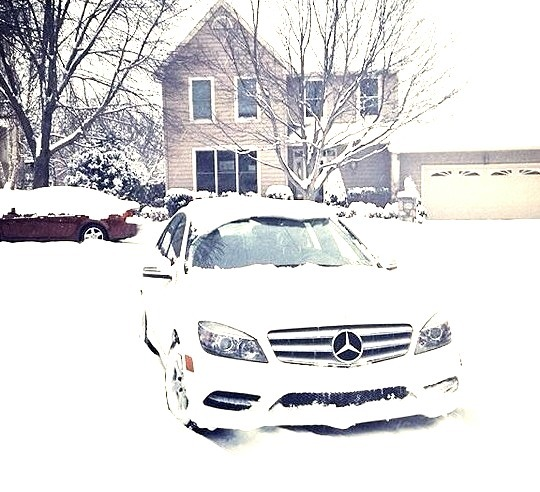 Mercedes in the Snow