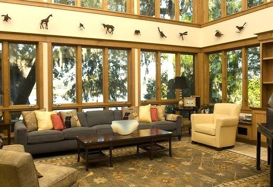 Living Room of a Decorated Luxury Cabin