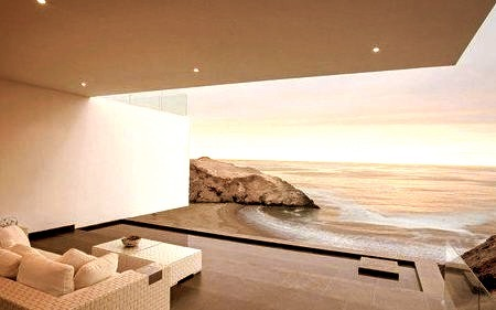 Beautiful View of the ocean from a Luxury Hotel