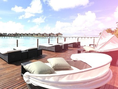 Beautiful Outdoor Waterfront Seating Area