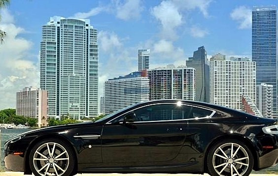 Aston Martin With Miami View