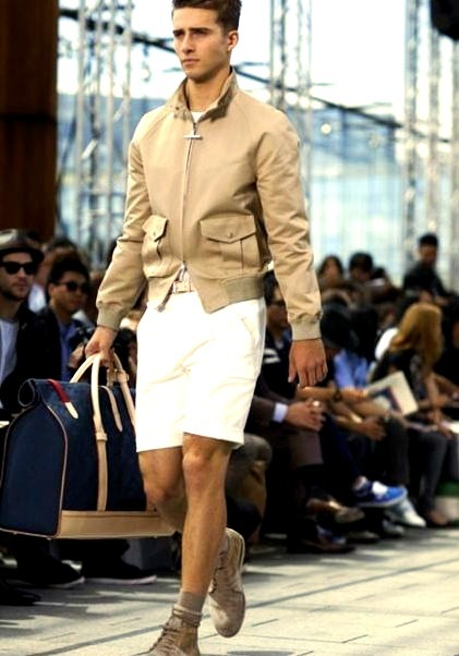 Luxury Mens Fashion Show Model