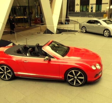 Red and Silver Bentley Convertible