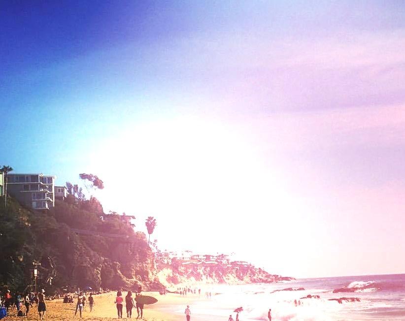 The best beach in the world #Laguna #lagunabeach #theoc #Cali #california #ocean #sand (at Laguna Beach, California)